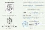 Profesinės kvalifikacijos pažymėjimas Nr. 003681